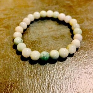 Jade Stone Bracelet Crystal Serpentine Charka